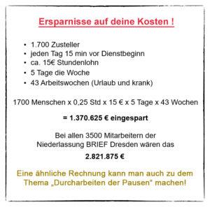 Arbeitszeit Verdi Betriebsgruppe Nl Brief Dresden